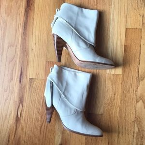 Dolce Vita Fold-over Bone Booties, 8
